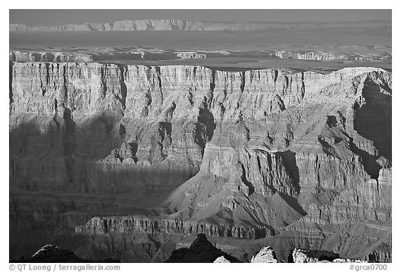 Desert View, sunset. Grand Canyon National Park (black and white)