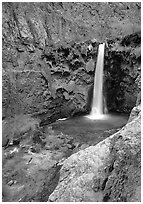 Mooney Falls. Grand Canyon National Park ( black and white)