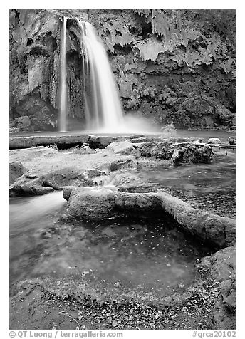 Havasu Canyon near Hualapai Hilltop. Grand Canyon  National Park (black and white)