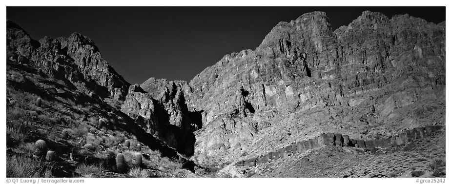 Towering cliffs. Grand Canyon National Park (black and white)