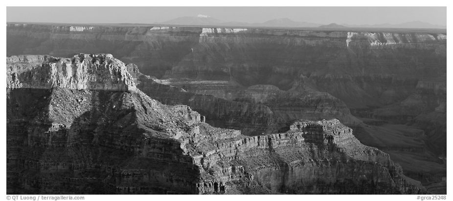 Landscape from Point Sublime. Grand Canyon National Park (black and white)