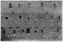 Hopi House back wall. Grand Canyon National Park, Arizona, USA. (black and white)