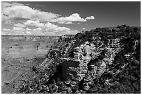 El Tovar hotel on South Rim village. Grand Canyon National Park ( black and white)