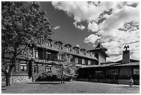 El Tovar hotel. Grand Canyon National Park ( black and white)