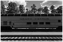 Grand Canyon railway. Grand Canyon National Park ( black and white)