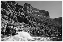 Wave in Marble Canyon. Grand Canyon National Park ( black and white)