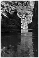 Shadows in cliffs, Marble Canyon. Grand Canyon National Park ( black and white)