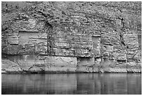 Geometric cliffs and reflections, Marble Canyon. Grand Canyon National Park ( black and white)