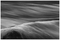 Fast moving water in rapids. Grand Canyon National Park ( black and white)