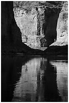 Shadows and reflections, Marble Canyon. Grand Canyon National Park ( black and white)
