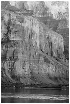 Cliffs above the Colorado River, Marble Canyon. Grand Canyon National Park ( black and white)