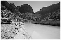 Turquoise Little Colorodo River in Little Colorado Canyon. Grand Canyon National Park ( black and white)