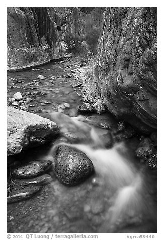 Clear Creek gorge. Grand Canyon National Park (black and white)