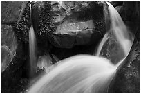 Double spouted waterfall, Clear Creek. Grand Canyon National Park ( black and white)