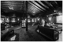 Main lobby, El Tovar. Grand Canyon National Park ( black and white)
