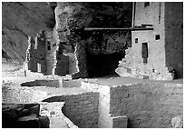 Long bean in Balcony House. Mesa Verde National Park ( black and white)