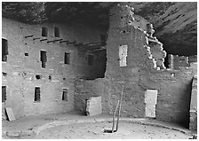 Kiva in Spruce Tree house. Mesa Verde National Park ( black and white)