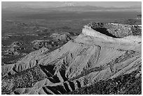 North Rim cliffs. Mesa Verde National Park ( black and white)