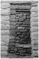 Aligned doors, Far View House. Mesa Verde National Park ( black and white)