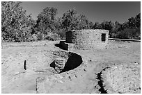 Far View Tower. Mesa Verde National Park ( black and white)
