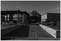 Visitor and Research Center. Mesa Verde National Park ( black and white)