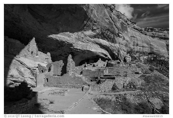 Long House, Wetherill Mesa. Mesa Verde National Park (black and white)