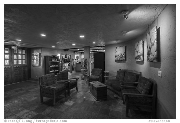 Lobby, Far View Lodge. Mesa Verde National Park (black and white)