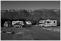 Morefield Campground. Mesa Verde National Park ( black and white)