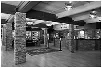 Lobby, Zion lodge. Zion National Park ( black and white)