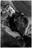 Alcove, Pine Creek Canyon. Zion National Park ( black and white)