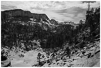 White Cliffs, Russell Gulch. Zion National Park ( black and white)