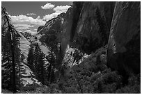 Head of Behunin Canyon. Zion National Park ( black and white)