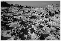 Low concretions. Badlands National Park ( black and white)