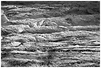 Crevasses on Grinnell Glacier. Glacier National Park, Montana, USA. (black and white)