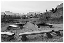 Amphitheater, Saint Mary Campground. Glacier National Park ( black and white)
