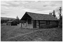 Historic cabins. Glacier National Park ( black and white)