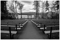 Amphitheater, Apgar Campground. Glacier National Park ( black and white)