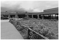 Visitor center. Great Sand Dunes National Park, Colorado, USA. (black and white)