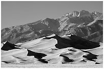 Star Dune and Sangre de Cristo Range, afternoon. Great Sand Dunes National Park and Preserve ( black and white)