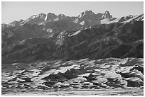Distant Dunefield and Sangre de Cristo Range. Great Sand Dunes National Park and Preserve ( black and white)