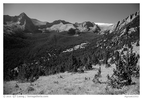 Tijeras Peak, Music Mountain, and Milwaukee Peak. Great Sand Dunes National Park and Preserve (black and white)