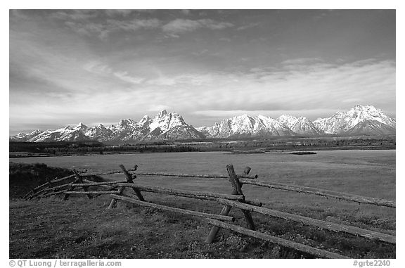 Grand teton national park black and white