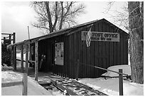 Kelly Post Office. Grand Teton National Park ( black and white)