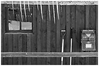 Icicles and mail box, Kelly. Grand Teton National Park ( black and white)