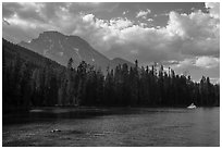 Mount Moran and String Lake, afternoon. Grand Teton National Park ( black and white)