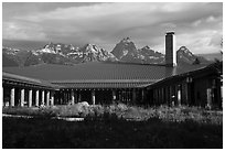 Craig Thomas Discovery and Visitor Center. Grand Teton National Park ( black and white)