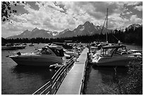 Colter Bay Marina. Grand Teton National Park ( black and white)