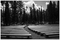 Amphitheater, Colter Bay Village. Grand Teton National Park ( black and white)