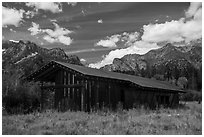 Visitor Center, Laurence S. Rockefeller Preserve. Grand Teton National Park ( black and white)