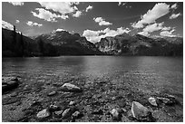 Phelps Lake. Grand Teton National Park ( black and white)